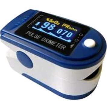 Oxímetro de Pulso Dedo Curva Azul Escuro 50D Contec