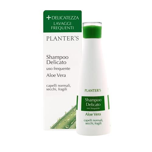 Planter's - Shampoo Delicato all'Aloe Vera. Deterge e dona morbidezza e lucentezza ai capelli crespi, secchi e fragili garantendo una perfetta igiene del capello. 200 ml