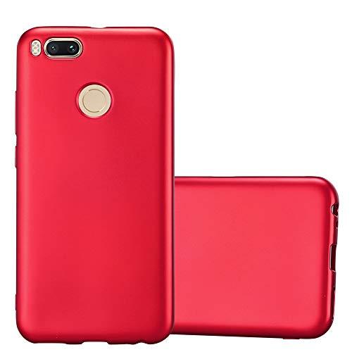 Cadorabo Funda para Xiaomi Mi A1 / 5X en Metallic Rojo – Cubierta Proteccíon de Silicona TPU Delgada e Flexible con Antichoque – Gel Case Cover Carcasa Ligera