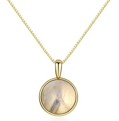 Dezente Goldkette mit Steinanhänger