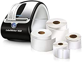 DYMO LabelWriter 450 Super Bundle - Free Label Printer with 4 Rolls of Shipping, File Folder and Multi-Purpose Labels...