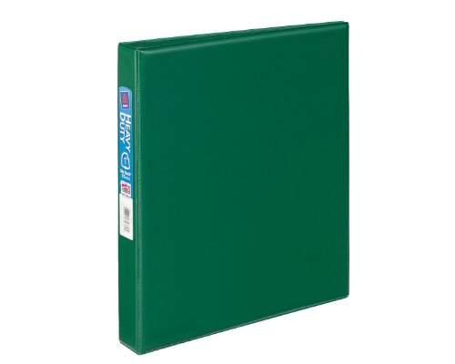 Avery Heavy-Duty Binder with 1 Inch One Touch EZD Ring, Green, 1 Binder (79789)