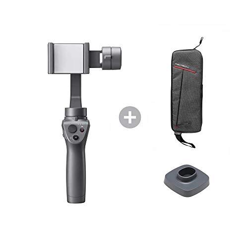 DJI Osmo Mobile 2 3 eixos cardan portátil estabilizador leve para smartphones iPhone e Android com estojo de transporte e base