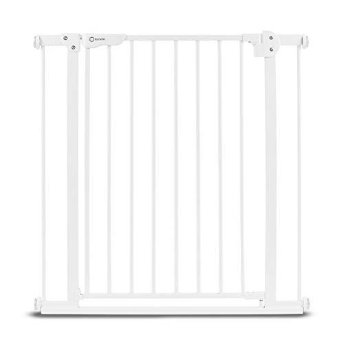 Callowesse/® 110cm si se usa como una Barrera para Ni/ños Barrera de Seguridad Enrollable//Extensible 0-130 cm - Color: Blanco