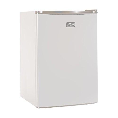BLACK+DECKER BCRK25W Compact Refrigerator Energy Star Single Door Mini Fridge...