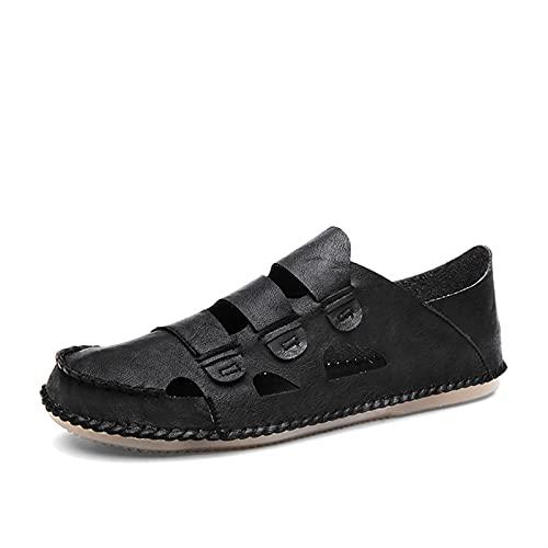 Luyangyund Sandalias de senderismo al aire libre para hombres Sandalias deportivas de apoyo de punta ligera, sandalias de sandalias, sandalias de pescadores, zapatos de agua de verano de piel sintétic