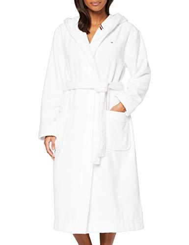 Tommy Hilfiger Damen Hooded Bathrobe Pyjamaset, Klassisches Weiß, MD