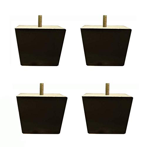 Furniture Table Legs Sofa Legs Bed Risers Set of 4 Natural Solid Wood Sofa Feet, Oak Furniture Legs, Square Cabinet Feet, Coffee Table Legs, Bed Legs, M8 Screw Rods, for Kitchen Armchairs, Sofa Beds (