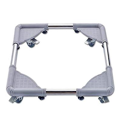 Washing Machine Base Multifunction Adjustable for Tumble Dryers Fridges Freezers Washing Machine Floor Trays Stainless Steel