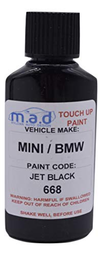 TOUCH UP PAINT FOR BMW/MINI JET BLACK 668 KIT 30ML COOPER S COUNTRYMAN D...