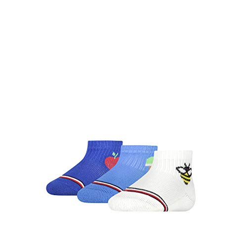 Tommy Hilfiger Newborn Baby Socks Giftbox (3 Pack) Calcetines, Blue Combo, 11/14/2020 para Bebés