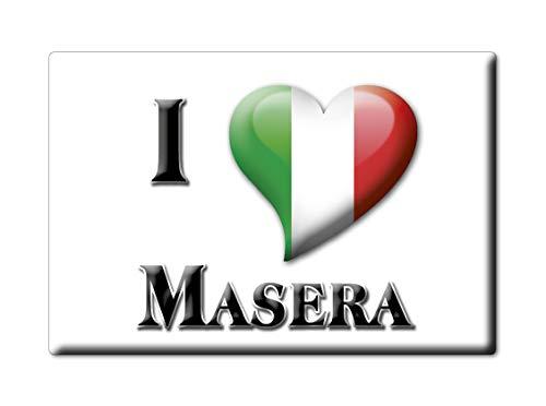Enjoymagnets MASERA CALAMITA Magnete Piemonte (VB) Italia Fridge Magnet Souvenir I Love (VAR. Goccia)