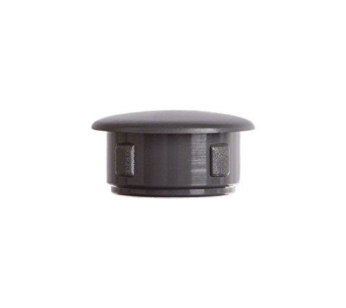 Abdeckstopfen 13x10 mm Anthrazitgrau | 50 Stück | Blindstopfen Kunststoff Verschlusskappe