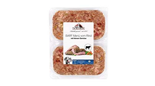 TACKENBERG Hundefutter (Rind + Gemüse), Barf Futter Hund, Barf Fleisch für Hunde ab 14 x 500 g