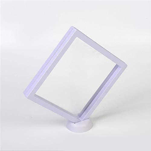 DIAZ Wit/zwart 3d Zwevend Frame Schaduwdoos Fotolijst Sieraden Display Beschermhoes Abs Frame + pe Filmhouder Basis, Wit