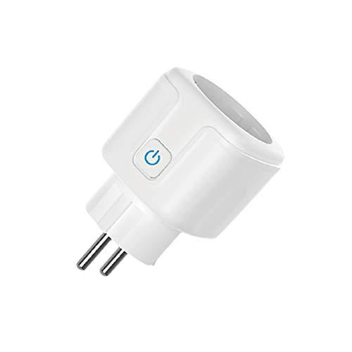 GAOYUAN Toma de corriente inteligente Zigbee, toma de corriente inteligente con Control remoto inalámbrico, compatible con Google Home, Alexa, Tuya, Adaptador de enchufe de la UE SIXWGH-toma de corrie