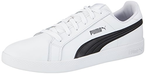 Puma Smash Wns L - Scarpe da Ginnastica Basse Donna , Bianco (bianco (white-black 02)), 40.5 EU (7 UK)