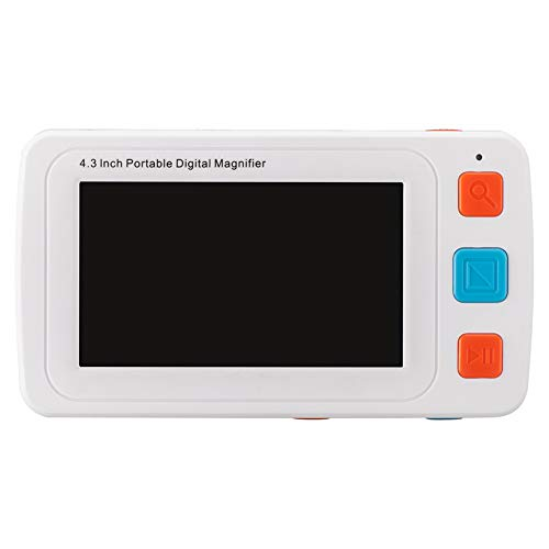 Fambasis Elektronische Leselupe, Lesehilfe für sehbehinderte, Senioren, Makuladegeneration, Menschen mit hoher Kurzsichtigkeit, 17 Farbmodi, Vergrößerung 4-32 X, 2500 ml Batterie