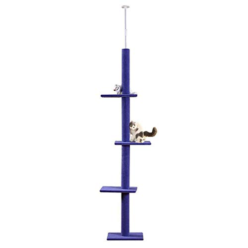 SLifeeling Cat Climbing Toys Tower Structures Cat Climber Tree Post Shelves Multilayer Platform Super Long Large Cat Climbing Tree Cat Tree Furniture Scratch Purple