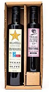 Olive Oil and Balsamic Vinegar Salad Set (Sola Stella Extra Virgin Olive Oil 500ml, Traditional Balsamic Vinegar 250ml)