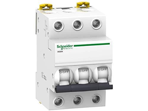 Schneider Electric A9K17316 Interruptor Automático Magnetotérmico, Ik60N, 3P, 16 A, Curva C