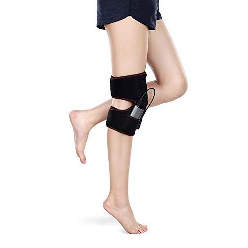 Rodilleras Calor Compresion Ajustable Impermeable Velcro 2 Rodilleras para Dolores de Rodilla con Almohadilla Viscoelástica Hombre Mujer Universal, Ajuste de Tres Velocidades