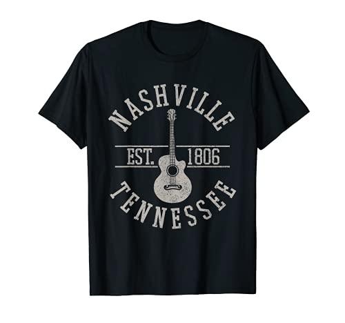 Nashville Tennessee Country Musik USA Gitarre Souvenir T-Shirt