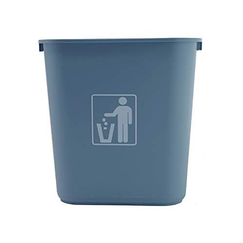 ZZRLJT Vuilnisbak plastic Vierkante emmer Eenvoudig en stijlvol grijs Klein 37 * 26 * 38cm Grote maat 39 * 27 * 50,5 cm
