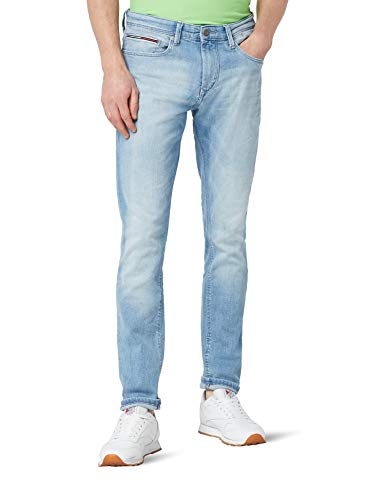 Tommy Jeans Herren Tapered Steve Slim Jeans, Blau (Berry Light Blue Comfort 911), W36/L36