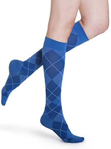 SIGVARIS Women's Style Microfiber Patterns 830 Closed Toe Calf-High Socks 20-30mmHg