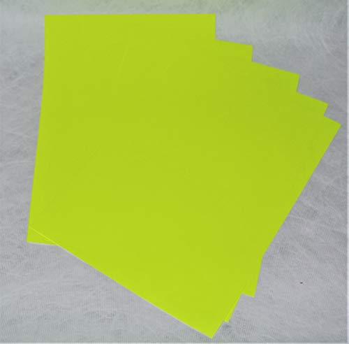 Tyvek fluoreszierendes Gelb beschichtetes Papier, 21,1 x 29,7 cm, A4, 10 Blatt, Druck mit jedem Tintenstrahldrucker, ca. 100 g