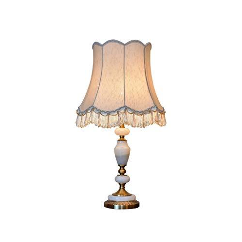 XIANGGUI 1983 Lámpara de Mesa Led Lámpara de Mesa de mármol Minimalista Creativa, Pantalla de Tela Blanca Exquisita, Noble y Elegante Lámpara de Noche Luz de Nocturna oficinas