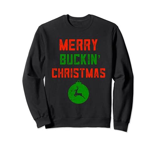 Feliz Buckin' Christmas Redneck Disfraz feo Remolque Bash Sudadera