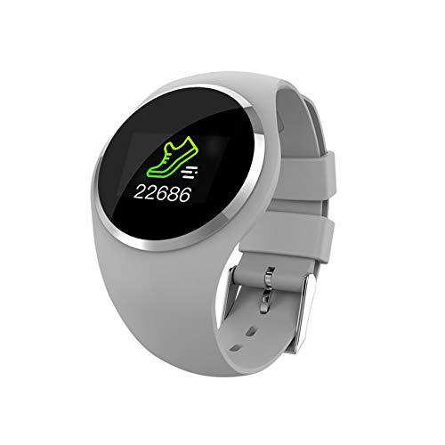 YINxy Reloj Inteligente Redondo con Frecuencia Cardíaca, Presión Arterial, Oxígeno Sangre, IP68, Reloj Inteligente Resistente Al Agua, Pulsera Inteligente Bluetooth Mujeres, Hombres