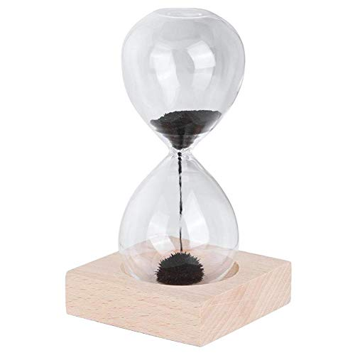 BAWAQAF Reloj de arena,Reloj de arena de cristal para el hogar,Temporizador de reloj de arena,con decoración de base ornamento reloj de arena,Adornos de reloj de arena de escritorio