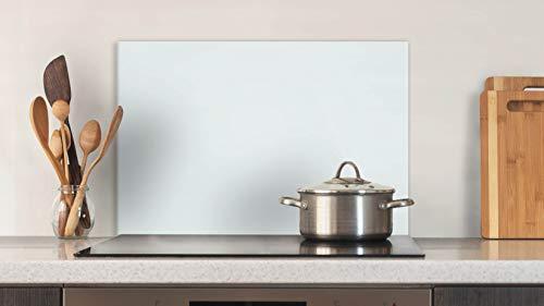 Glasvision | Küchenrückwand aus Glas | Spritzschutz | Memoboard | Herdabdeckplatte (60 x 40 cm, Basisglas Weiß)