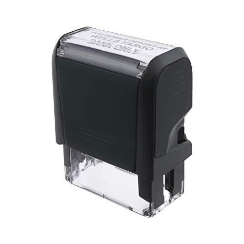 Black Self-Inking Check Endorsement Bank Deposit & Mobile Deposit Stamp for Wells Fargo – Mammoth Stamps