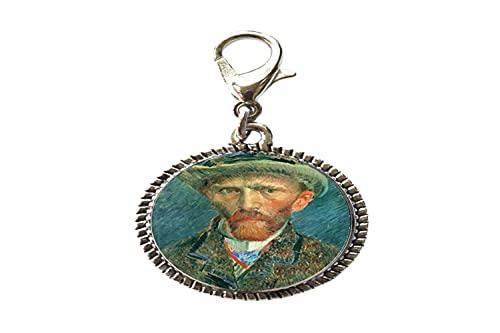 Vintage Van Gogh pittura a olio vetro arte foto fascino braccialetto cerniera tirare fascino con astice chiusura lampo tirare gioielli