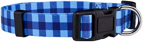 Plaid Dog Collar Red Lumberjack Pink Pastel Blue Blue Small product image
