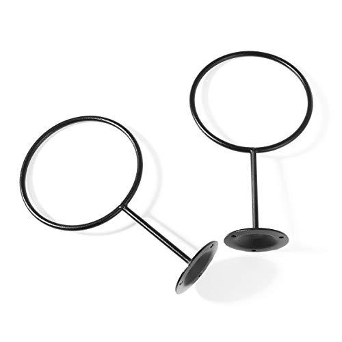 CLISPEED Soportes de exhibición de los titulares de la Bola montados en la Pared Balones de Ejercicio de Voleibol de fútbol, fútbol, Negro Paquete de 2