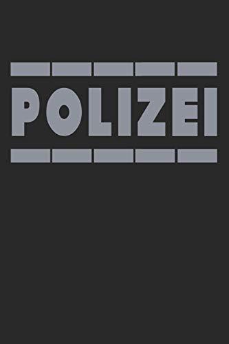 Polizei: Notizbuch/Tagebuch/Organizer/120 Karierte Seiten/ 6x9 Zoll