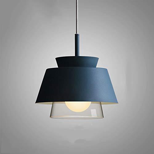 Tritow Lampada a sospensione postmoderna nordica semplice singola testa E27 sospensione luce creativa sala da pranzo lampada a sospensione apparecchio con paralume in ferro battuto decorazione illumin