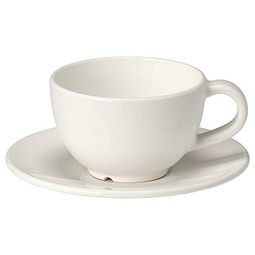 VARDAGEN Kaffeetasse mit Untertasse 14 cl Offwhite