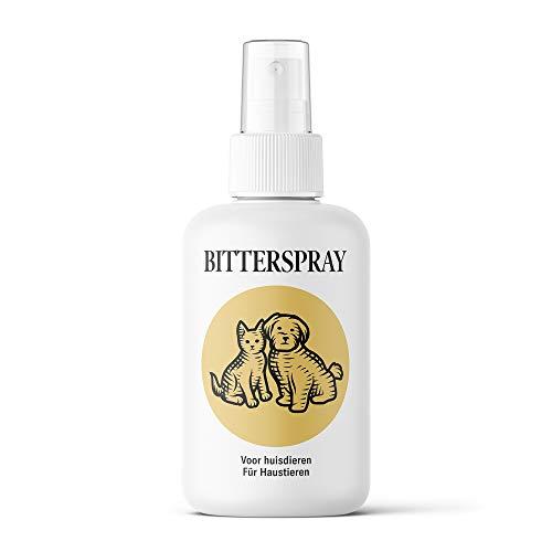 Sensipharm Bitterspray für Hunde und Katzen, gegen unerwünschtes Kauen & Lecken, Fernhaltespray, Kaustopp für Haustieren, Fernhalten von Möbel, Bitter - 100ml Spray