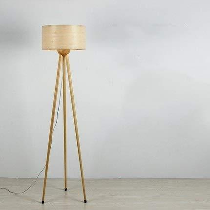Lámpara Madera de bambú trípode Lámparas de pie for sala de estar dormitorio Estudio ligera de la decoración principal E27 Lámpara de pie wall light (Lampshade Color : C)