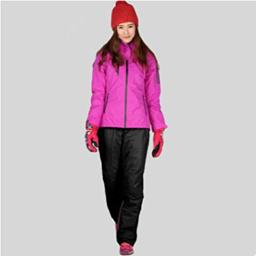 JSGJHXFWinter Skipak voor dames, hoogwaardig ski-jack, warmwaterdicht, winddicht, skiën, snowboarden, dames, skipak, maat 4,42
