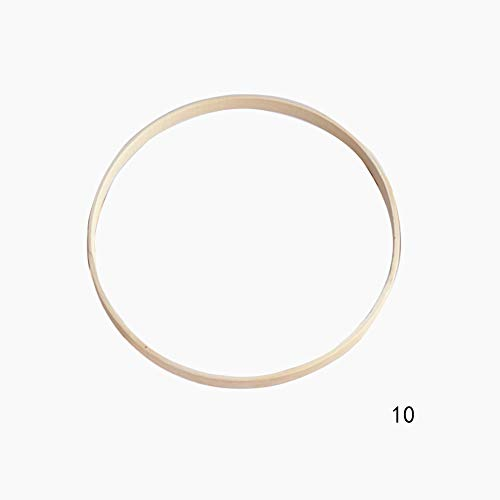 10 anillos de bambú para decoración de bodas, atrapasueños, anticorrosión, interiores, manualidades, aros redondos, respetuosos con el medio ambiente 10 cm As Picture Show