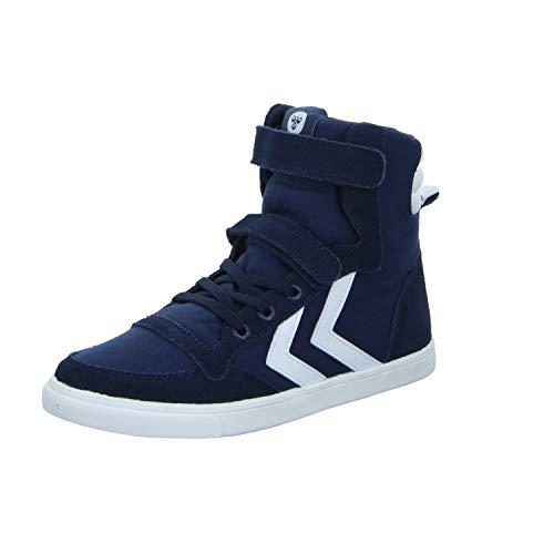 hummel Slimmer Stadil Canvas Jr High Kinder Sneaker Turnschuhe 30 EU Dress Blue