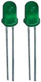 Blink LED 5mm grün selbstblinkend 5 32 mcd 60° 2 Stück (0013)