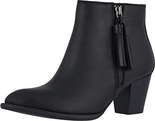 Vionic Women's Upright Madeline Ankle Boot - Ladies Booties with Concealed Orthotic Arch Support Black Leather 9 M US